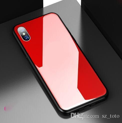 Mytoto Luxury Glass Women Designer Phone Cases Fashion Cover for IPhone X 7Plus 8P 7 8 6P 6SP 6 6S Letter Brand Hot Sale White Black