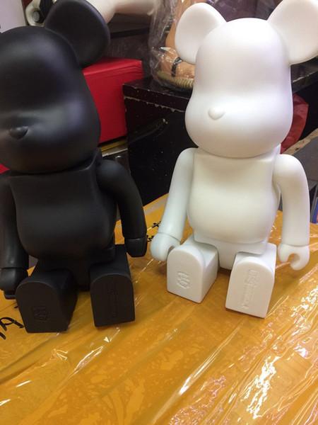 vente en gros noir blanc 2 couleur 400% bearbrick bear @ brique bricolage peinture PVC Action Figure Collection avec Opp Bag enfants cadeau
