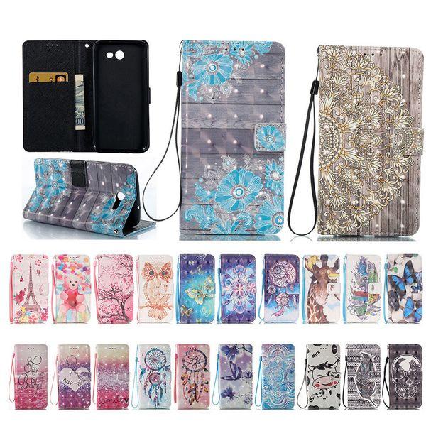 New 3d Phone Cases For Samsung Galaxy J3 J5 J7 A3 A5 Sm- A310 A510 J320 J510 S5 S6 S7 Edge Pu Leather Bag B21