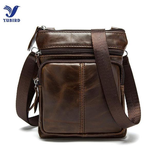 Wholetide- Small Genuine Leather Messenger Bags For Men Male Casual Real Cowhide Single Shoulder Bag Crossbody Zipper Handbags Man Mini Bag