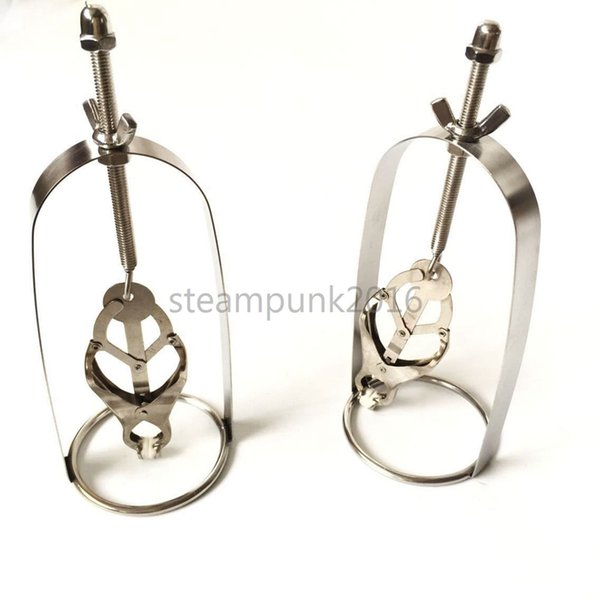 1 Pair Lady's Newest clamps Adjustable torture breast clips Restraint Roleplay AU79