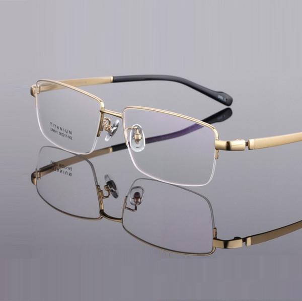 monture de lunettes ultra-légère titane pour hommes monture lunettes largeur-155 montures de lunette homme demi-jante homme d'affaires