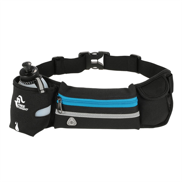 Free Knight Gym Bags Lightweight Sports Fanny Pack Travel Marathon Running Belt with 280ml Water Bottle Carrier Bag Pouch #87013