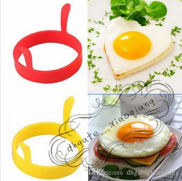 Kitchen Round Ring Silicone with Handle Fried Oven Poacher Pancake Ring Mould Tool Egg Fry Mold silicone mold fry Egg mould