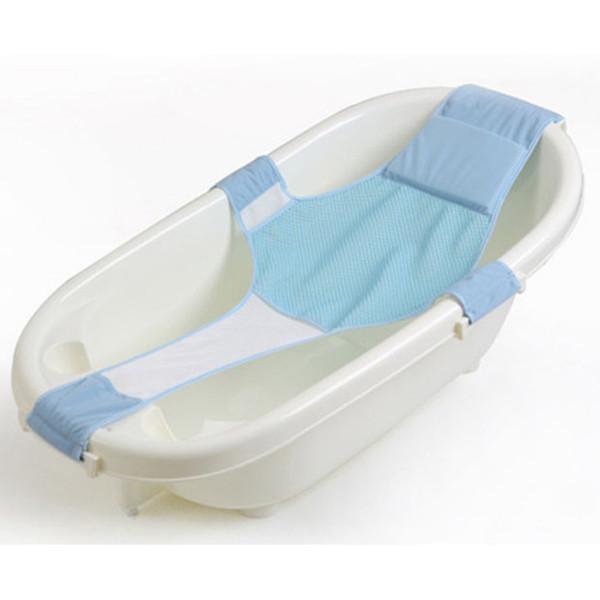 Baby Care Adjustable Infant Shower Bath Bathing Bathtub Baby Bath Net Safety Security Seat Support
