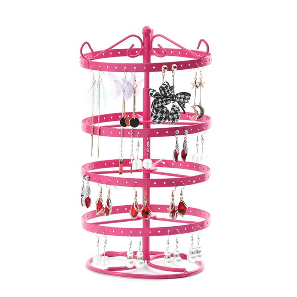 Detachable Earrings Jewelry Display Rack Rotating Storage Stand Holder