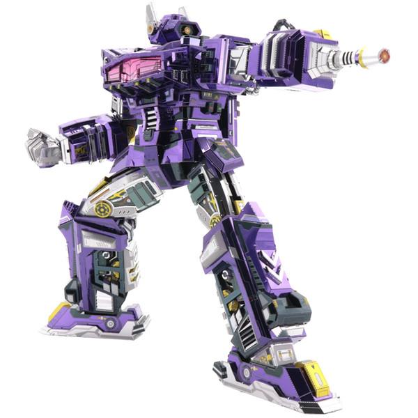 MMZ MODÈLE MU Shockwave G1 3D Maquette En Métal DIY Assembler Puzzle Découpé Au Laser Bâtiment Puzzle Jouet YM-L059 pour Cadeau