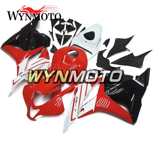 Carenagens da motocicleta completas para honda cbr600rr f5 2009-2012 abs kits de moto de injeção de plástico capotas cascos vermelho preto branco carroceria