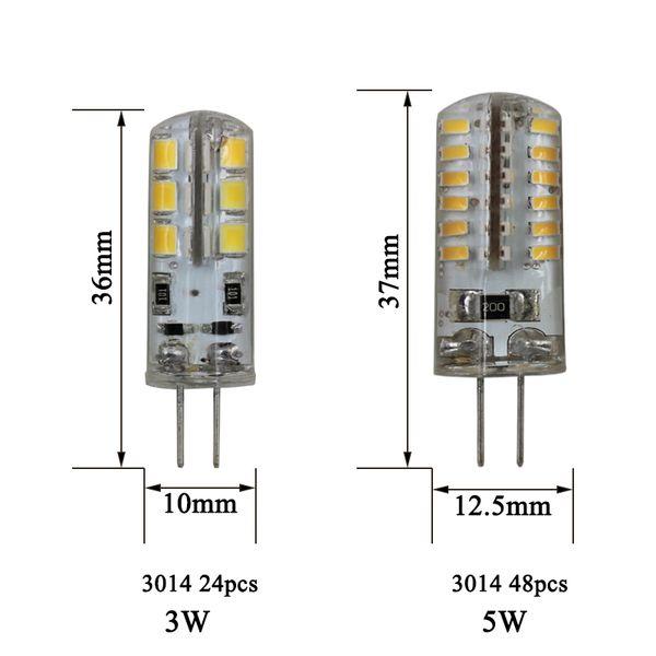10 STÜCKE G4 LED Lampe Mini Led-lampe 220 V 12 V SMD 3014 für Scheinwerfer Kronleuchter Hochwertige Beleuchtung Ersetzen Halogenlampen