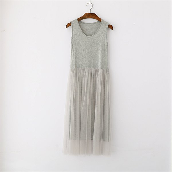 Tank Dress cinza