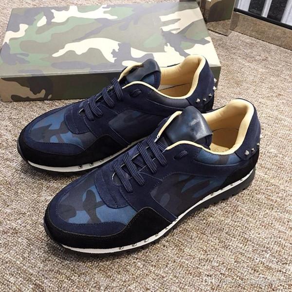2019 Mens Sapatos de Grife Designer de Tênis de baixo corte Spikes Flats sapatos Fundo Vermelho Para Homens e Mulheres Sapatilhas De Couro Do Partido Designe zhan190513