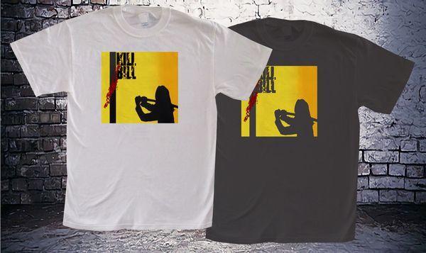 New Kill Bill * Uma Thurman Movie T-shirt da uomo bicolore bianca e nera
