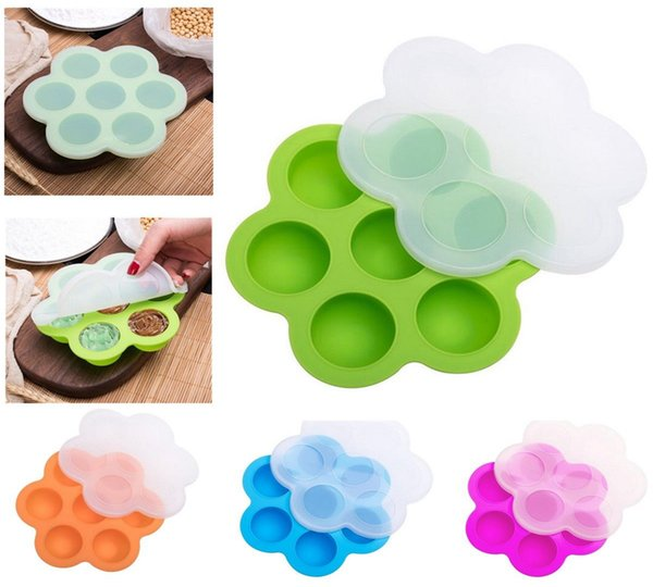 16.0*16.0*4.5cm Silicone Egg Bite Mold Baby Food Storage Container Fruit Ice Cube Ice Cream Maker Kitchen Bar Drinking Accessories A190418