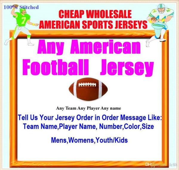 Maglie di football americano personalizzate Detroit Buffalo college autentico retro rugby calcio baseball basket hockey jersey 4xl 6xl 7xl luce