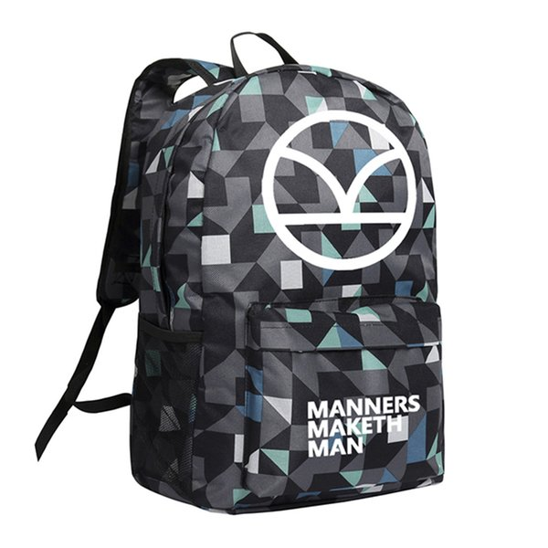 Movie Kingsman Backpack for Teenager Boys