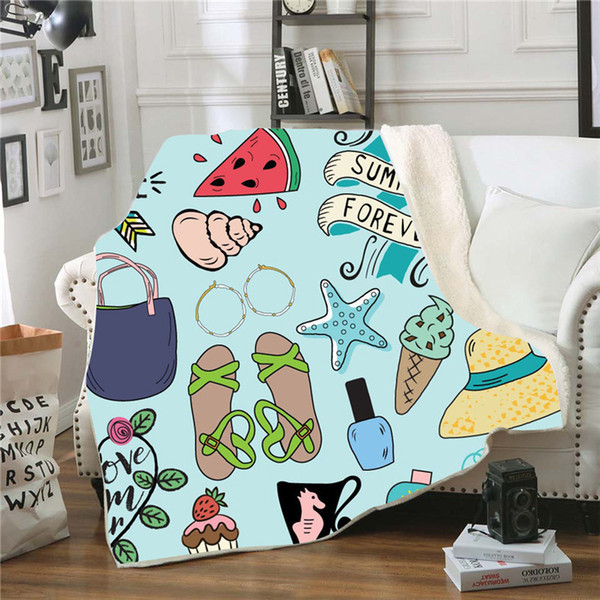 Camping Series Throw Blanket 3D Digital Printing personalized Blanket Super Soft Warm Bed Cover For Adult Children Home Textile