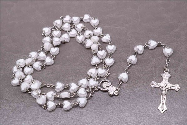 CS-DB Jewelry Silver Round Pearl Charms Chain Charm Pendants Necklaces