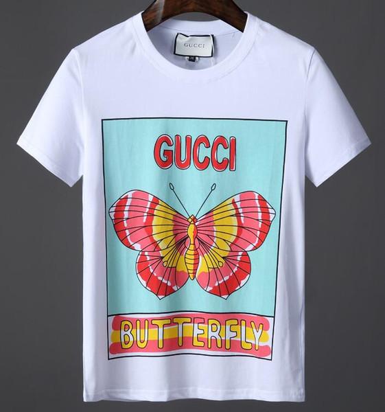 Verão novo high-end dos homens da marca t-shirt moda curto sleve snaeke impressão moda t shirt dos homens Tops # -2922