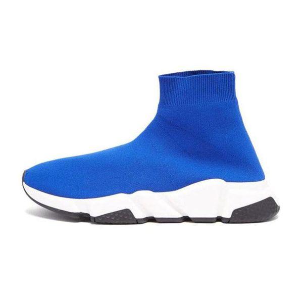 Yeni tasarımcı erkek kadın Hız Eğitmeni Ayakkabı siyah glitter mavi beyaz kırmızı Düz Moda Çorap Sneakers Eğitmenler Koşucu boyutu 36-45
