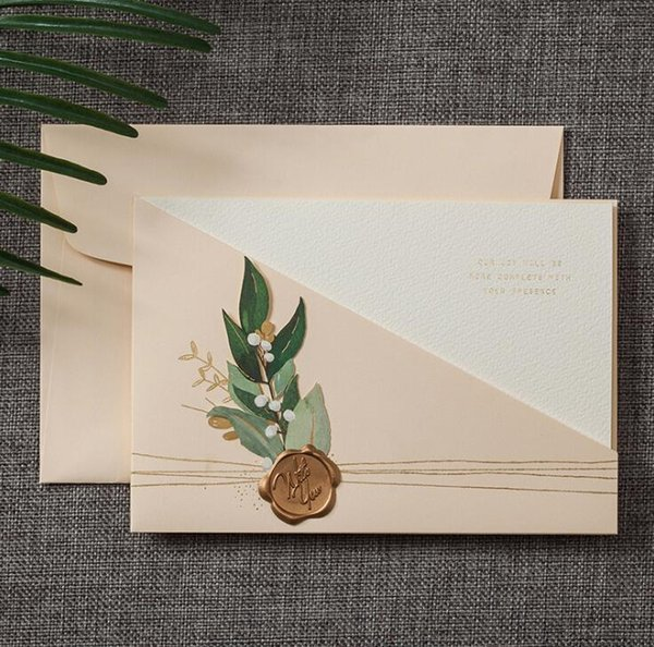 Colors Pearl Paper Wedding Invitation Card And Envelope Set Laser Cut Festival Gifts Card Birthday Business Invitation Exquisite Design Quinceanera