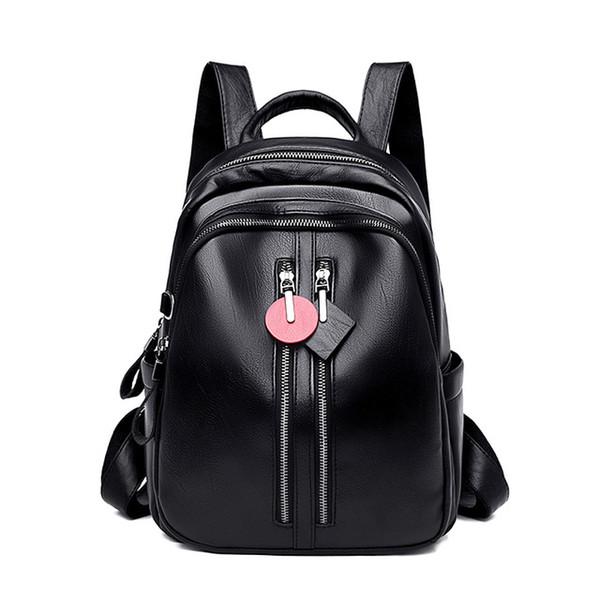 3 Renkler Yeni Yüksek Kalite Kadınlar Sırt Çantası Deri Bagpack Moda Küçük Kızlar Sırt Çantası Bookbag Travle Sırt Çantası Kese Dos
