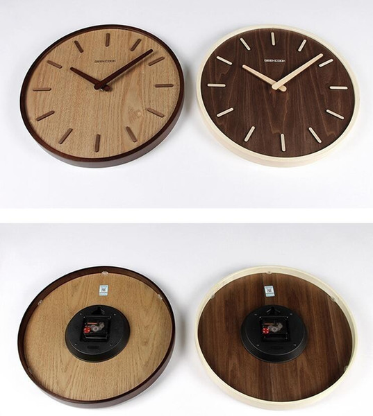 14 Inch Wooden Wall Clock Creative Vintage Non Ticking Silent Wall Clocks  Kitchen Indoor Home Office Decorative Cheap Wall Clock Cheap Wall Clock ...