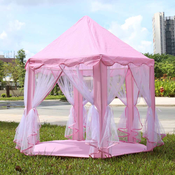 gift hyundai 3 Colors Portable Play s Princess Castle Tent Children Playhouse kids Tent Funny Indoor Outdoor Beach Tent Baby playing Toys