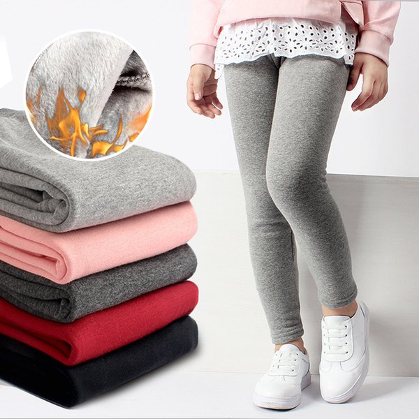Girls Leggings Winter Clothes for Children 2019 Thick Warm Trousers Cotton Fleece Lined Leggings Kids Long Pants Girl Clothing