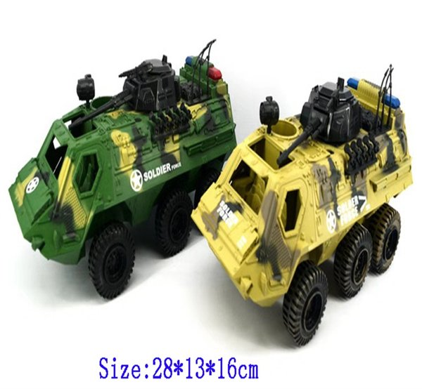 Military Armored Cars Children's CAMO Tank Soldiers Little Man Toys Gliding Tank Model Diecasts Toy Vehicles