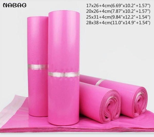 NABAG 15Pcs/Lot Pink Poly Mailer Envelopes Shipping Bags Self Adhesive storage bags Waterproof Tear-proof Postal Bags C18112801