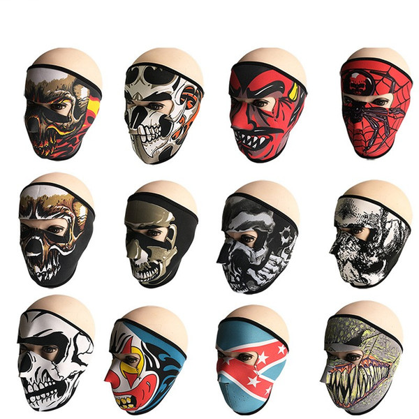 Outdoor Mask Windproof Dust-Proof Facepiece Bicycle Motorcycle Headgear Anti UV Decoration Suplies Adult Hot Sales Fashion Shell Fab 8lnC1