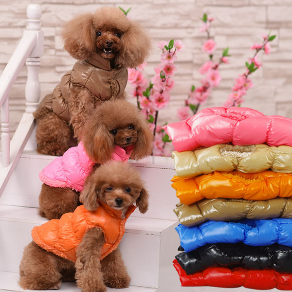 winter cat clothes warm big cat coat puppy clothing waterproof pet vest jacket for small medium large dogs golden retriever