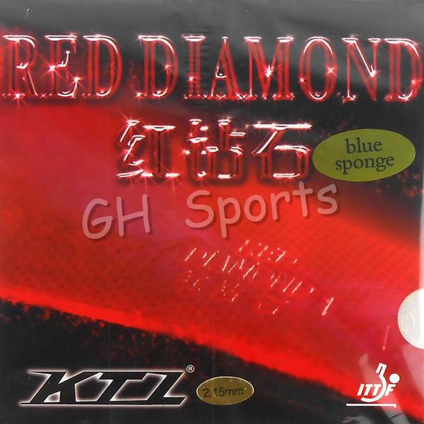 Версия Blue Sponge (Professional) KTL RED DIAMOND Красный Pips-In с резиновой губкой для настольного тенниса