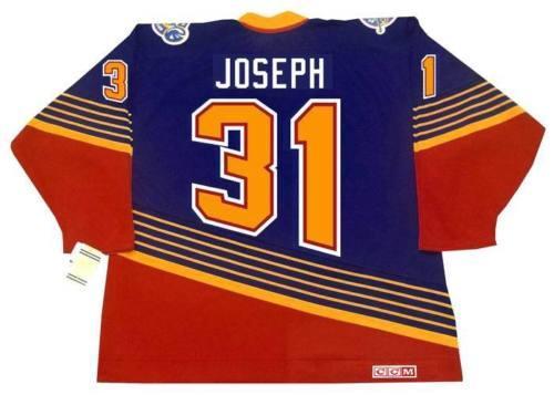 CURTIS JOSEPH St. Louis Blues 1994 CCM Vintage Turn Back Away Hockey Jersey Todo cosido De alta calidad Cualquier nombre Cualquier número