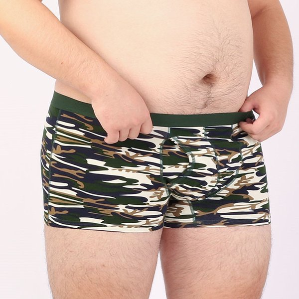6 PCS/LOT Male Plus Size Cotton Underwear Men's Camouflage Boxers Camo Underpants Shorts 4 Colors M L XL XXL 3XL 4XL 5XL 6XL
