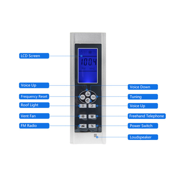AC 12V Black Induction Screen LCD Display Shower Cabin Computer Control Panel FM Radio Temperature Sensor Display Shower Controller
