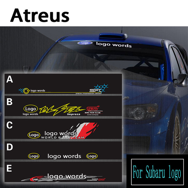 Atreus 1pcs Car logo Front Window Windshield Decal Reflective Stickers For Forester Impreza XV Styling Accessories Covers