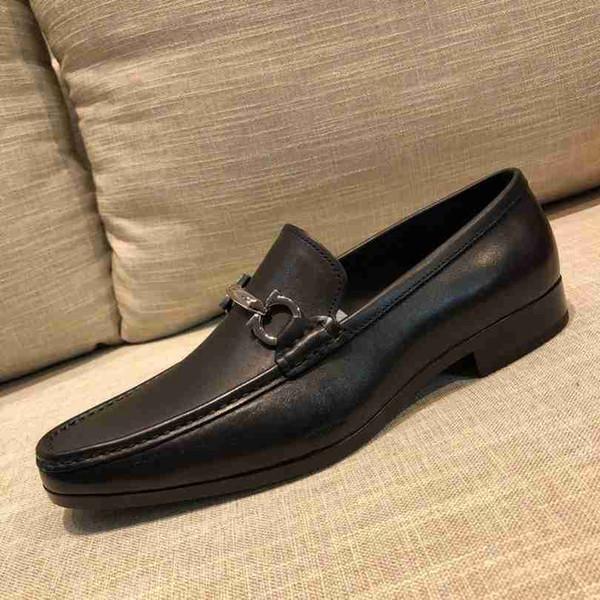 Marka Erkekler inek deri Elbise Düğün ayakkabı moccasins Loafer'lar Moda resmi Takım Elbise İş Ofis Ayakkabı Düşük Topuk Horsebit Oxfords, 38-44