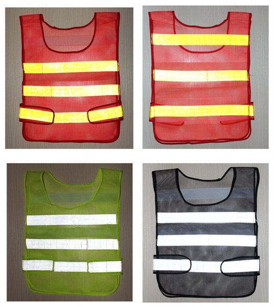 Wholesales Popular High Quality Visibility Reflective Safety Vest Coat Sanitation Vest Traffic Safety warning clothes vest for Free Shipping