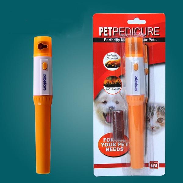 Animali domestici Tagliaunghie automatici Kitty Zampa Cuticole Remover Pet Dog Nail Tools elettrici con batteria 50 pezzi DHL