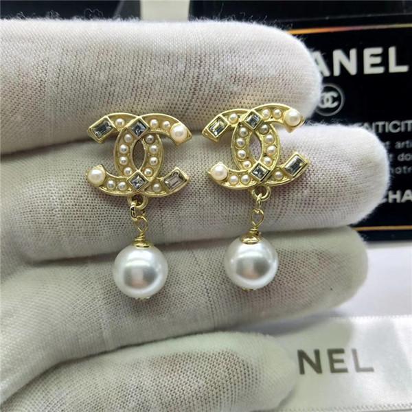 Top Designer marke Letters Klassische hohe qualität bunte Ohrringe Gold Silber Überzogene Ohrstecker Doppel-Earddrop Für Frauen Mädchen Partei Schmuck