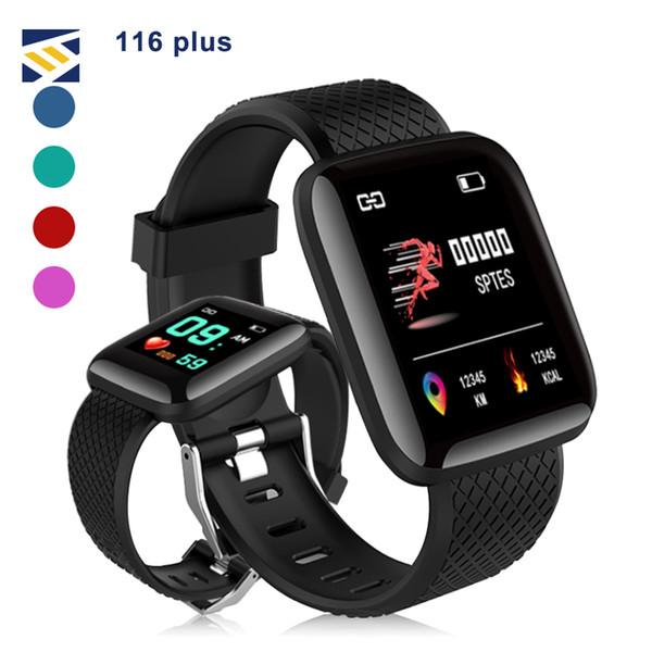 116 plus smart watch pulseiras de fitness rastreador monitor de freqüência cardíaca passo contador de atividade banda pulseira pk 115 plus para iphone android