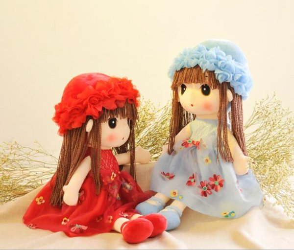 Gift Girl Plush Dolls Plush Toys Cute Flower Fairy Ragdoll Child Doll Appease Doll Plush Pillow