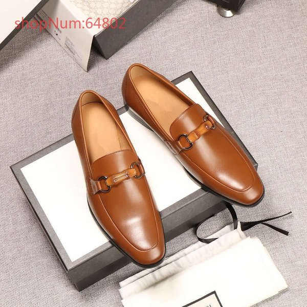 2018 Luxury Brand New Designer Upscale Men Business Formal Shoes Genuine Leather Men Dress Shoes With Buckle Office Shoes 38-44
