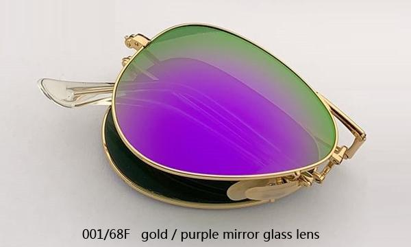 001 / 68F الذهب / عدسة مرآة الأرجواني