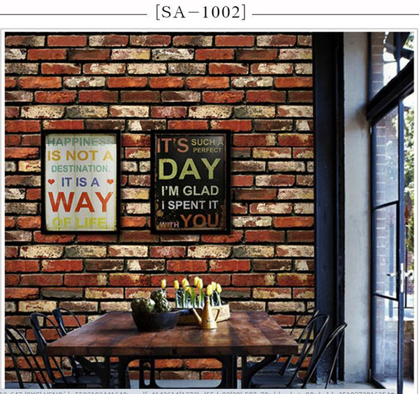 Hot 3D Luxury Wood Blocks Effect Brown Stone Brick 10M Wallpaper Roll Self-Adhesive Wallpaper Background Wall Decor Art Wall Decor
