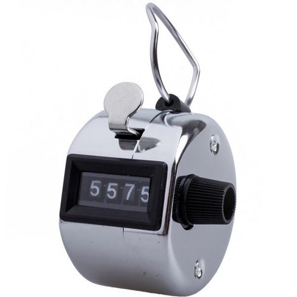 Argento manuale del contatore di conteggio della mano di numero di 4 cifre del manuale tenuto in mano mini golf di sport del metallo di promozione