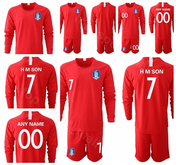 2019 2020 Soccer Long Sleeve 7 Son Heung-min Jersey South Korea Set 2 Lee Yong Football Shirt Kits Uniform 19 HMSON 22 YHGO