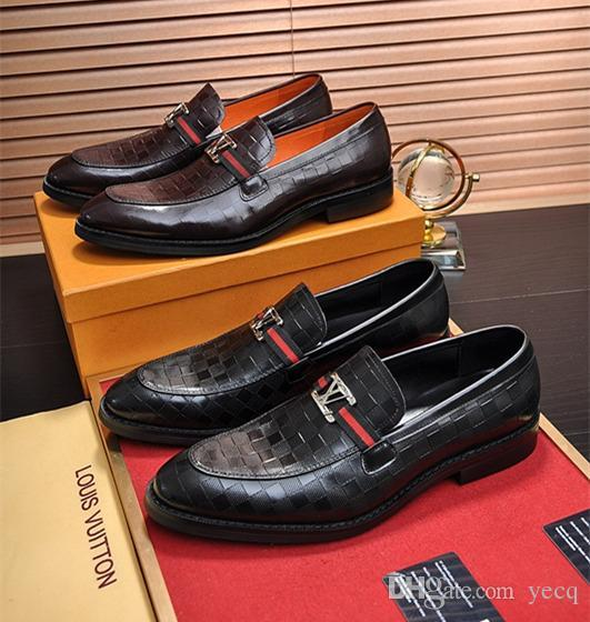 Genuine cow leather brogue Wedding increase shoes mens casual flats shoes vintage oxford shoes for men black red spring 2019