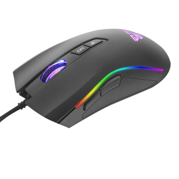Fantech X4S USB Com Fio 4800 dpi 7 Botões Optical Gaming Mouse LED Backlight para PC Novo